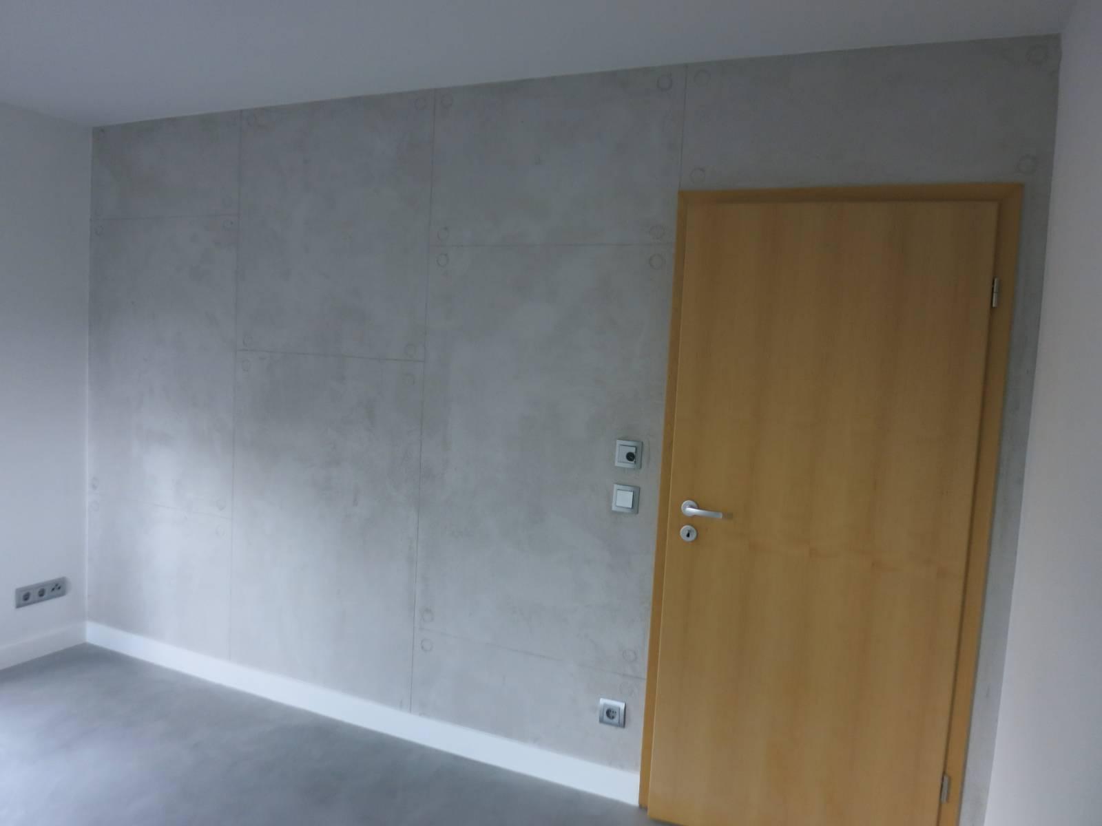 Wand in betonoptik appel malermeisterbetrieb - Betonoptik wand bad ...